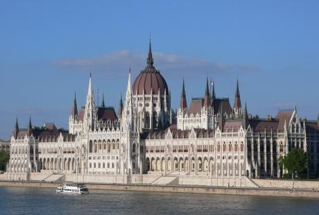 El edificio del Parlamento húngaro